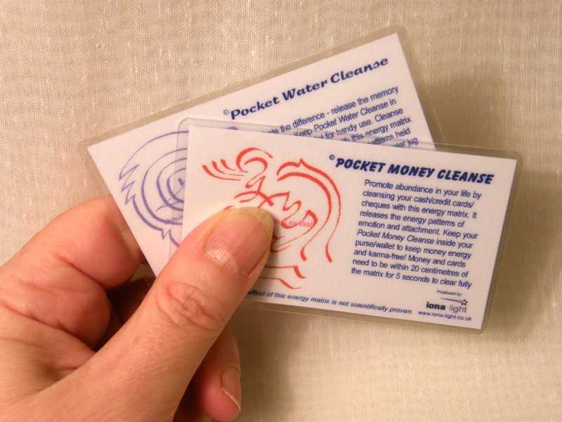 Pocket Money Cleanse and Water Cleanse